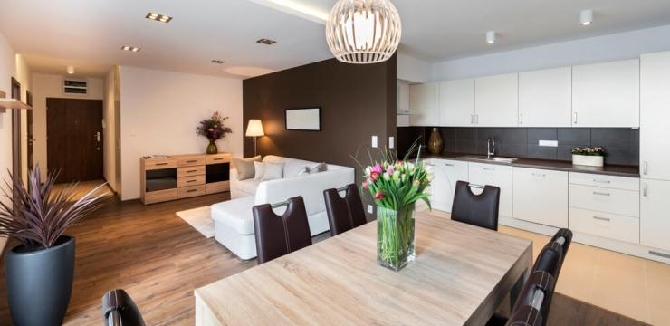Ganhe espaço e visual ao integrar a sala com a cozinha